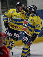 Ishockey   16  november   2006  - GET ligaen<br /> Hamar OL-Amfi    <br /> Foto: Dagfinn Limoseth, Digitalsport <br /> <br /> Storhamar v Stjernen  6-1<br /> <br /> Teemu Kohvakka og Linus Stensson ,Storhamar