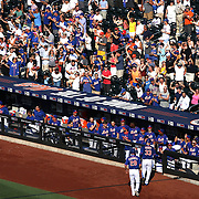 The New York Mets fans celebrate as Pitcher Matt Harvey, New York Mets, returs to the dugout after hitting his first career home run against the Arizona Diamondbacks to give the Mets a 3-2 lead in the bottom of the fifth inning. The two-run shot came off Arizona starter Patrick Corbin and was the second home run of the inning for New York, which went on to win the game 4-2 during the New York Mets Vs Arizona Diamondbacks MLB regular season baseball game at Citi Field, Queens, New York. USA. 11th July 2015. Photo Tim Clayton