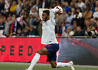 Football - 2018 / 2019 UEFA Nations League A - Group Four: England vs. Spain<br /> <br /> Joe Gomez (England) prepares to launch the ball from the touchline at Wembley Stadium.<br /> <br /> COLORSPORT/DANIEL BEARHAM