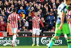 Ibrahim Afellay of Stoke City celebrates after scoring his sides first goal  - Mandatory by-line: Matt McNulty/JMP - 02/04/2016 - FOOTBALL - Britannia Stadium - Stoke-on-Trent, England - Stoke City v Swansea City - Barclays Premier League