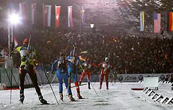 04.01.2012, DKB-Ski-ARENA, Oberhof, GER, E.ON IBU Weltcup Biathlon 2012, Staffel Frauen, im Bild  Starterfeld .// during relay Ladies of E.ON IBU World Cup Biathlon, Thüringen, Germany on 2012/01/04. EXPA Pictures © 2012, PhotoCredit: EXPA/ nph/ Hessland..***** ATTENTION - OUT OF GER, CRO *****