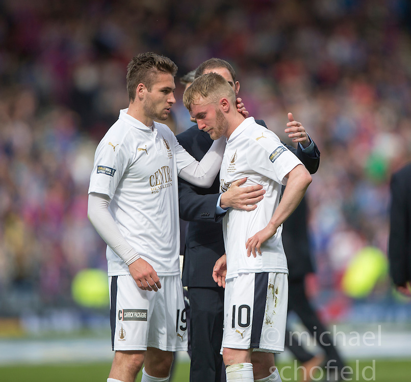 Falkirk's Luke Leahy and Craig Sibbald at the end. Falkirk 1 v 2 Inverness CT, Scottish Cup final at Hampden.