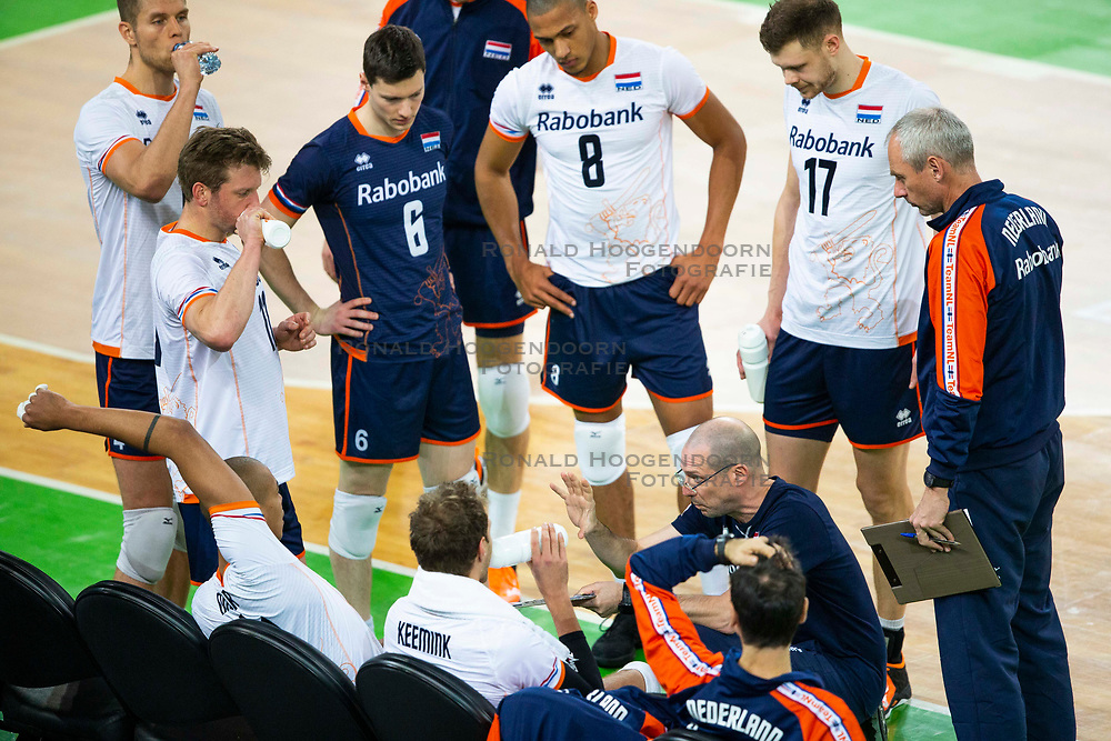30-12-2019 SLO: Slovenia - Netherlands, Ljubljana<br /> Coach Roberto Piazza of the Netherlands  during friendly volleyball match between National Men teams of Slovenia and Netherlands