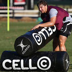 DURBAN, SOUTH AFRICA Friday 3rd July 2015 - Etienne Oosthuizen during the Cell C Sharks training session at Growthpoint Kings Park in Durban, South Africa. (Photo by Steve Haag)