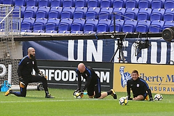 August 31, 2017 - Harrison, New Jersey, United States - Harrison, NJ - Thursday Aug. 31, 2017: Tim Howard, Brad Guzan, Nick Rimando during a training day prior to a FIFA World Cup Qualifier between the United States (USA) and Costa Rica (CRC) at Red Bull Arena. (Credit Image: © Howard C. Smith/ISIPhotos via ZUMA Wire)