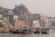 The banks of the river Ganges in the city of Varanasi, Uttar Pradesh, India