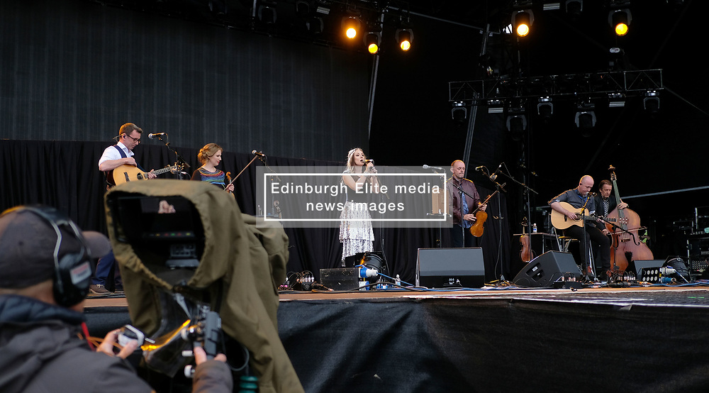 RUNRIG - THE LAST DANCE - FINAL FAREWELL CONCERT, Stirling, Saturday,18th August 2018<br /> <br /> Veteran Scottish rockers Runrig played their farewell concert tonight to mark their retirement after 45 years in the music business.<br /> <br /> The current line-up features Rory Macdonald (Bass), Calum Macdonald (Percussion), Iain Bayne (Drums), Malcolm Jones (Guitar), Brian Hurren (Keyboard) and Bruce Guthro (Lead Singer)<br /> <br /> They were supported by former member Donnie Munro and Julie Fowlis<br /> <br /> Pictured:  Julie Fowlis<br /> <br /> <br /> (c) Alex Todd | Edinburgh Elite media
