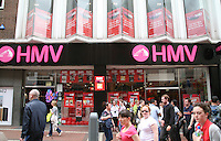HMV shop with sale on Grafton Street Dublin Ireland