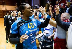 Laura Kamdop of RK Krim Mercator celebrates after the handball match between RK Krim Mercator and ZRK Z'Dezele Celje in Last Round of Slovenian National Championship 2016/17, on April 18, 2017 in Arena Galjevica, Ljubljana, Slovenia. Photo by Vid Ponikvar / Sportida