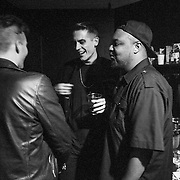 G-Eazy and friends backstage at The El Rey Theatre on March 9, 2013 in Los Angeles, California.