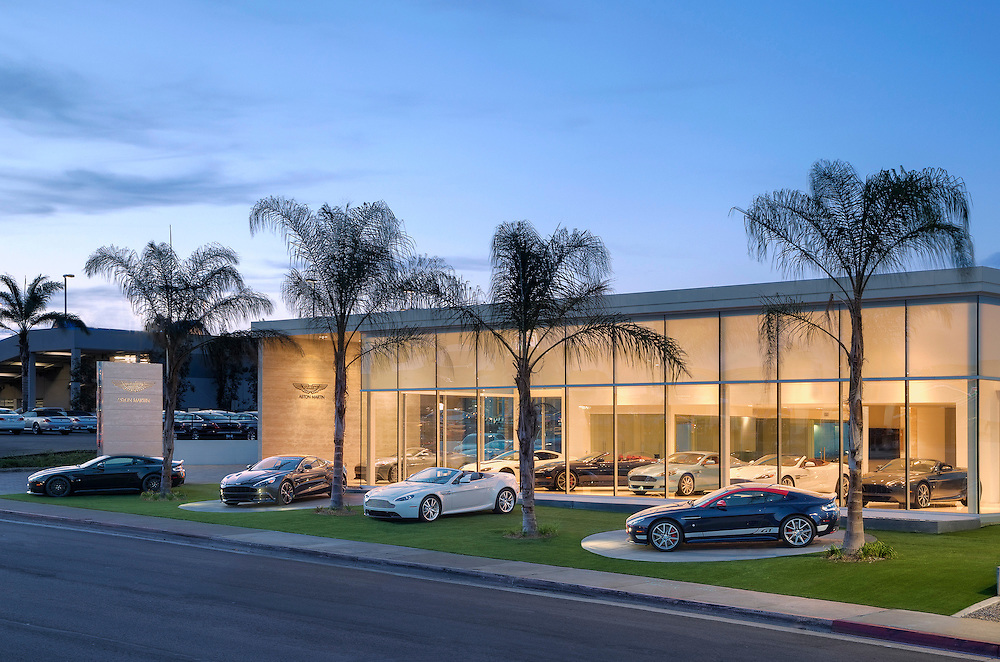 Commercial advertising photos of the brand new Aston Martin dealership in San Diego, CA.