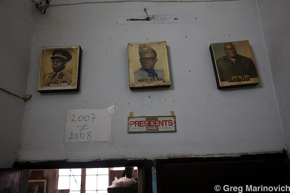 KINSHASA, DRC JAN 02, 2008:  The National Archive of the Democratic Republic of Congo. Male is director general Antoine Biobe Lumenganeso and mme Yuma Shaka Matisho, administarive director. Photo Greg Marinovich