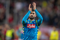 14.03.2019, Red Bull Arena, Salzburg, AUT, UEFA EL, FC Red Bull Salzburg vs SSC Napoli, Achtelfinale, Rückspiel, im Bild Elseid Hysaj (SSC Napoli) // during the UEFA Europa League round of 16, 2nd leg match between FC Red Bull Salzburg and SSC Napoli at the Red Bull Arena in Salzburg, Austria on 2019/03/14. EXPA Pictures © 2019, PhotoCredit: EXPA/ Johann Groder