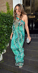 Elizabeth Hurley leaving her house to attend the Asian Women of Achievement Awards in London, UK. 04/06/2014<br />BYLINE MUST READ : GOTCHAIMAGES.COM<br /><br />Copyright by © Gotcha Images Ltd. All rights reserved.<br />Usage of this image is conditional upon the acceptance <br />of Gotcha Images Ltd, terms and conditions available at<br />www.gotchaimages.com