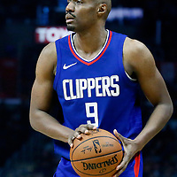 31 December 2017: LA Clippers guard C.J. Williams (9) is seen during the LA Clippers 106-98 victory over the Charlotte Hornets, at the Staples Center, Los Angeles, California, USA.