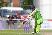 Lanc's Steven Croft edges on behind for 1 between Lancashire County Cricket Club and Durham County Cricket Club at the Emirates, Old Trafford, Manchester, United Kingdom on 20 May 2018. Picture by George Franks.