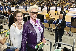 08.05.2010, o2-World Berlin, GER, Beko BBL, Playoffs Viertelfinale 1, Alba Berlin vs Deutsche Bank Skyliners Frankfurt im Bild Brigitte Nielsen und Fiona Erdmann  EXPA Pictures © 2010, PhotoCredit: EXPA/ nph/  Hammes / SPORTIDA PHOTO AGENCY