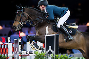 HONG KONG - FEBRUARY 21:  Simon Delestre of France rides Stardust Quinhon during the Massimo Dutti Trophy as part of the 2016 Longines Masters of Hong Kong on February 21, 2016 in Hong Kong, Hong Kong.  (Photo by Aitor Alcalde Colomer/Getty Images)