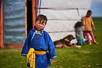 Mongolie, Province de Ovorkhangai, Vallee de l'Orkhon, campement nomade, yourte // Mongolia, Ovorkhangai province, Orkhon valley, Nomad camp, yurt