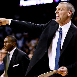 November 17, 2010; New Orleans, LA, USA; Dallas Mavericks head coach Rick Carlisle reacts from the bench during the fourth quarter against the New Orleans Hornets at the New Orleans Arena. The Hornets defeated the Mavericks 99-97. Mandatory Credit: Derick E. Hingle