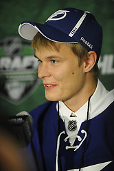 Vladislav Namestinkov of the London Knights was selected by the Tampa Bay Lightning in the 2011 NHL Entry Draft in St. Paul, MN on Friday June 24. Photo by Aaron Bell/CHL Images