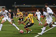 Cambridge United Sullay Kaikai during the The FA Cup match between Cambridge United and Manchester United at the R Costings Abbey Stadium, Cambridge, England on 23 January 2015. Photo by Phil Duncan.