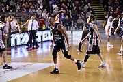 esultanza Mike Hall<br /> Unicusano Roma - Angelico Biella<br /> Campionato Basket LNP 2016/2017<br /> Roma 29/01/2017<br /> Foto Ciamillo-Castoria