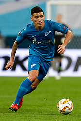 October 4, 2018 - Saint Petersburg, Russia - Matias Kranevitter of FC Zenit Saint Petersburg in action during the Group C match of the UEFA Europa League between FC Zenit Saint Petersburg and SK Sparta Prague at Saint Petersburg Stadium on October 4, 2018 in Saint Petersburg, Russia. (Credit Image: © Mike Kireev/NurPhoto/ZUMA Press)
