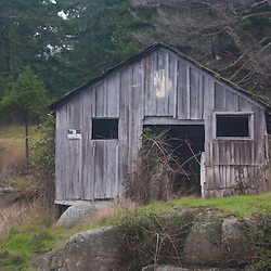 Waterfront Shack, Stuart Island, Washington, US