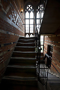Original stairwell showing erosion of steps