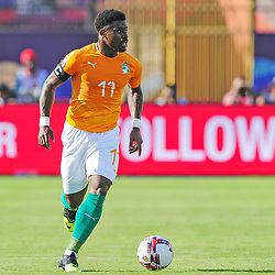 Serge Aurier of Ivory Coast during the 2019 Africa Cup of Nations Finals game between Ivory Coast and South Africa at Al Salam Stadium in Cairo, Egypt on 24 June 2019  <br /> Photo : Icon Sport
