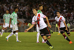 10.12.2014, River Plate Stadium, Buenos Aires, ARG, Südamerika Cup 2014, River Plate vs Atletico Nacional de Medellin, im Bild River Plate football player Germ?n Pezzella celebrates the second goal // during the 2nd final match of Southamerican Cup between River Plate vs Atletico Nacional and Medellin at the River Plate Stadium in Buenos Aires, Argentina on 2014/12/10. EXPA Pictures © 2014, PhotoCredit: EXPA/ Eibner-Pressefoto/ Cezaro<br /> <br /> *****ATTENTION - OUT of GER*****
