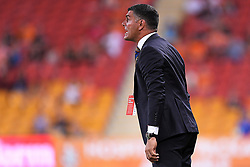 January 8, 2018 - Brisbane, QUEENSLAND, AUSTRALIA - Brisbane Roar head coach John Aloisi shouts instructions during the round fifteen Hyundai A-League match between the Brisbane Roar and Sydney FC at Suncorp Stadium on Monday, January 8, 2018 in Brisbane, Australia. (Credit Image: © Albert Perez via ZUMA Wire)