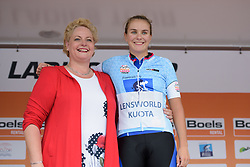 Winanda Spoor earns the sprint jersey at Boels Rental Ladies Tour Stage 2 a 132.8 km road race from Eibergen to Arnhem, Netherlands on August 30, 2017. (Photo by Sean Robinson/Velofocus)