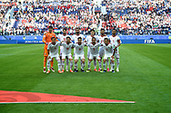 Jun 15th, 2018. St petersburg, Russia. Iran's football team pose for team photo during the 2018 FIFA World Cup Russia. Shoja Lak/Alamy Live News