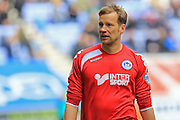 Jussi Jaaskelainen during the Sky Bet League 1 match between Wigan Athletic and Rochdale at the DW Stadium, Wigan, England on 28 March 2016. Photo by Daniel Youngs.