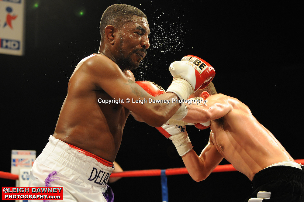 Lewis Pettitt defeats Delroy Spencer at the Brentwood Centre on 25th June 2010.Frank Maloney Promotions. Photo credit: © Leigh Dawney