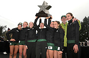 Dec 1, 2018; Portland, OR, USA; Members of the Central Oregon girls team pose after winning the team title during the Nike Cross Nationals at Glendoveer Golf Course.