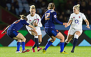 Kay Wilson in action, England Women v France Women in an Old Mutual Wealth Series, Autumn International match at Twickenham Stoop, Twickenham, England, on 9th November 2016. Full Time score 10-5