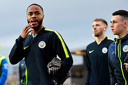 Raheem Sterling of Manchester City, arrives at Rodney Parade prior to kick off - Mandatory by-line: Ryan Hiscott/JMP - 16/02/2019 - FOOTBALL - Rodney Parade - Newport, Wales - Newport County v Manchester City - Emirates FA Cup fifth round proper