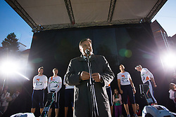 Mayor Zoran Jankovic at farewell of an exceptional athlete Iztok Cop at Ljubljanica river, on September 21, 2012 on river Ljubljanica, Ljubljana Slovenia. (Photo By Matic Klansek Velej / Sportida)