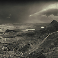 HONORABLE MENTION - International photography awards <br /> <br /> COMMENDED - Landscape photographer of the year<br /> <br /> RUNNER UP - 'Northland' Glasgow print studio<br /> <br /> Hailstorm moving across Staffin, Isle of Skye, seen from the Trotternish ridge and the Quiraing.