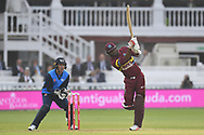 M.N. Samuels of West Indies hitting a six during the International Twenty/20 match at Lord's, London<br /> Picture by Simon Dael/Focus Images Ltd 07866 555979<br /> 31/05/2018