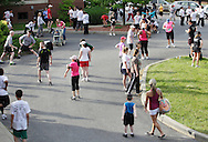 Middletown, New York - Runners gather before in the 15th annual Ruthie Dino Marshall 5K Run and Fun Walk hosted by the Middletown YMCA on Sunday, June 5,  2011.