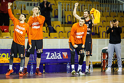 Team KK Cedevita during basketball match between KK Union Olimpija and KK Cedevita Round 25# of ABA League 2016/17, on March 5th, 2017 in Hala Tivoli, Ljubljana Slovenia. Photo by Grega Valancic / Sportida