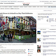 "Screengrab of ""Backlash Grows in Ireland to a Day That Celebrates Guinness"" published in The New York Times"