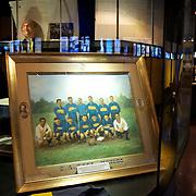 Hisorical artifacts on display in the Museum at Boca Juniors football stadium, La Bombonera, in La Boca region of Buenos Aires, Argentina, 25th June 2010. Photo Tim Clayton..