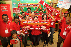 KUALA LUMPUR, MALYASIA - Thursday, July 23, 2015: Malaysian Liverpool supporters during an event at the Paradigm Mall on day eleven of the club's preseason tour. (Pic by David Rawcliffe/Propaganda)