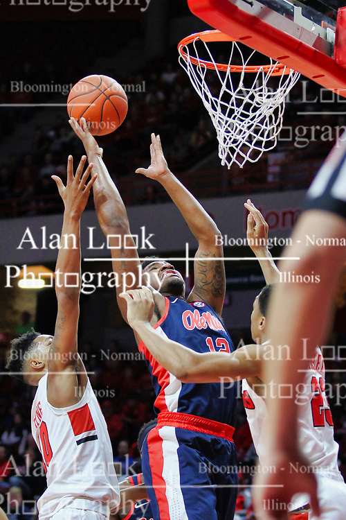 NORMAL, IL - December 08: Bruce Stevens during a college basketball game between the ISU Redbirds and the University of Mississippi (Ole Miss) Rebels on December 08 2018 at Redbird Arena in Normal, IL. (Photo by Alan Look)