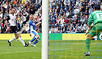 Photo: Paul Thomas.<br /> Preston North End v Birmingham City. Coca Cola Championship. 06/05/2007.<br /> <br /> Gary McSheffrey (Blue) of Birmingham misses this goal chance.